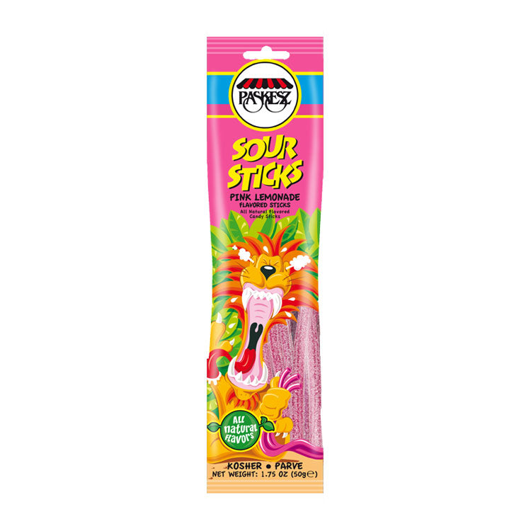 Paskesz Sour Sticks Pink Lemonade 50Gr