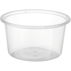 Round Plastic Containers 440ml 50 x 10 Sleeves (500 Units) - Bulk Buy