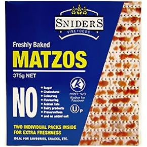 Sniders Regular Matzos 375G