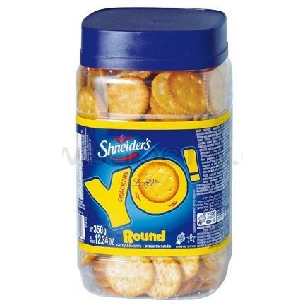 Shneiders Yo Round Crackers 350G