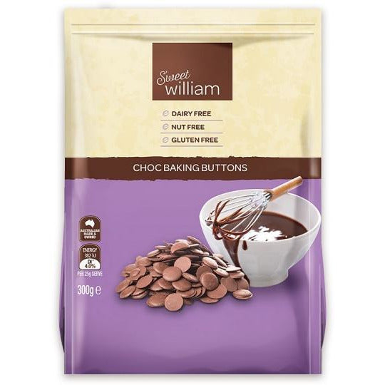 Sweet William Chocolate Baking Buttons 300G