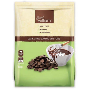 Sweet William Dark Chocolate Baking Buttons 300G