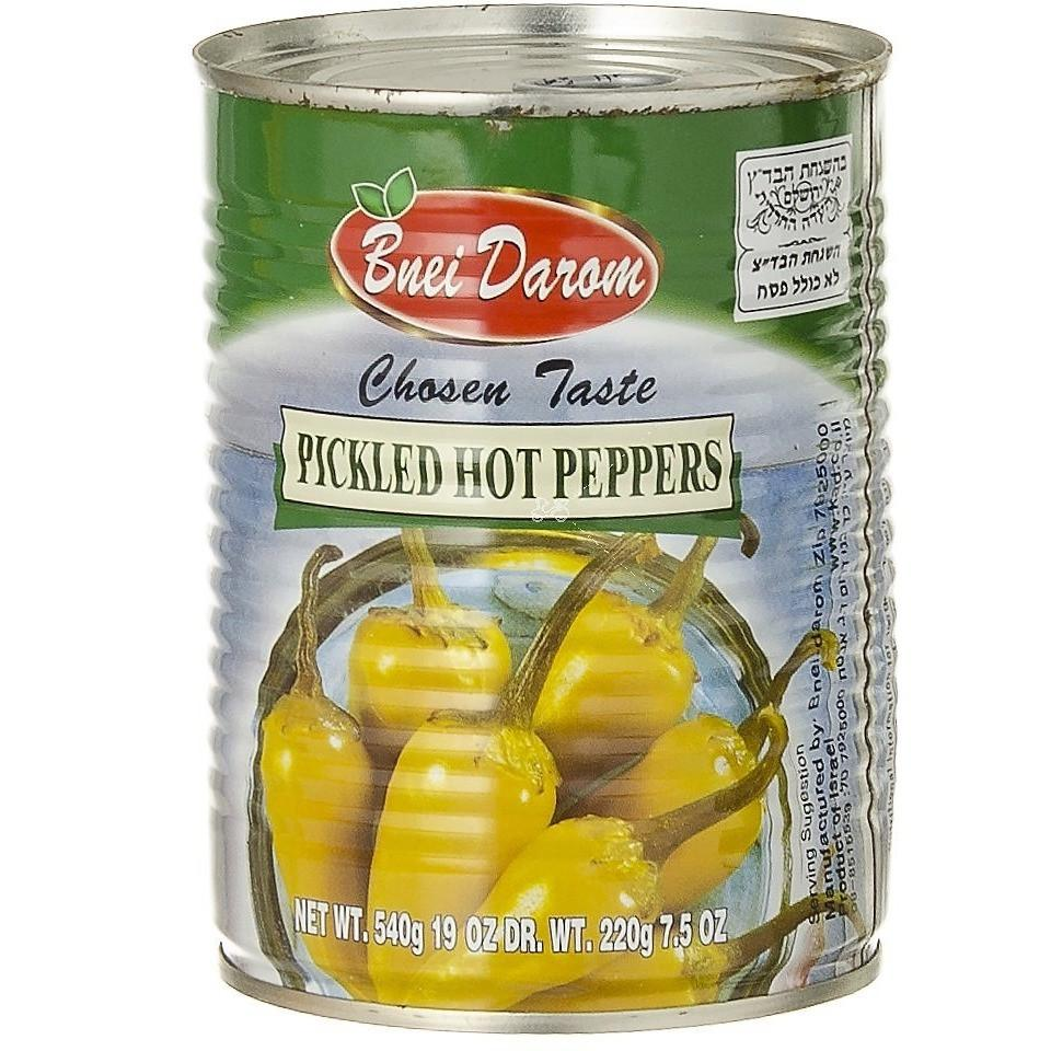 Bnei Darom Pickled Hot Peppers 540G