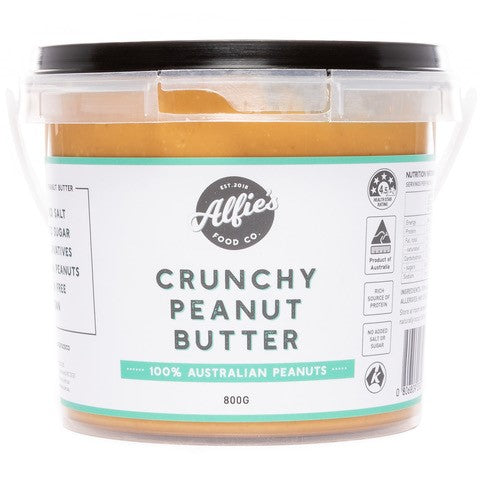 Alfie's Food Co. Crunchy Peanut Butter 800g