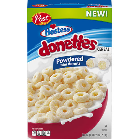 Hostess Donettes Mini Powdered Donuts Cereal