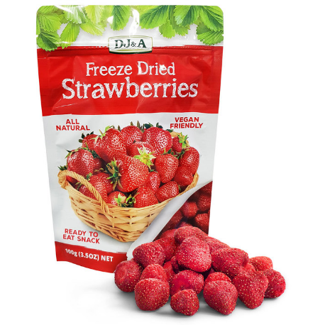DJ&A Freeze Dried Strawberries 100G