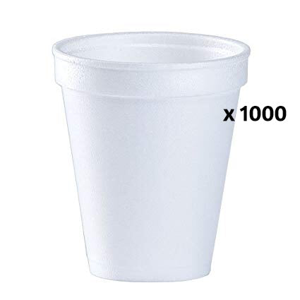 Foam cups 8oz x 1000