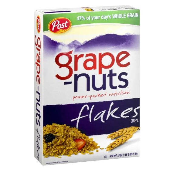 Post Grape Nuts Flakes Cereal 510g