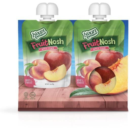 Bgan 100% Fruit Nosh Apple Peach 2 x 113g