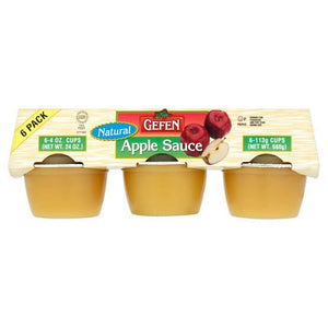 Gefen Natural Apple Sauce 6-Pack x 113G