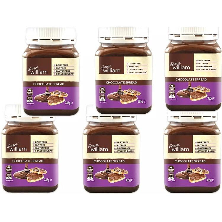 Sweet William Chocolate Spread 6 x 385Gr Bulk Buy