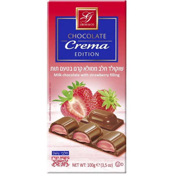 Gross Chocolate Crema Edition Strawberry 100Gr