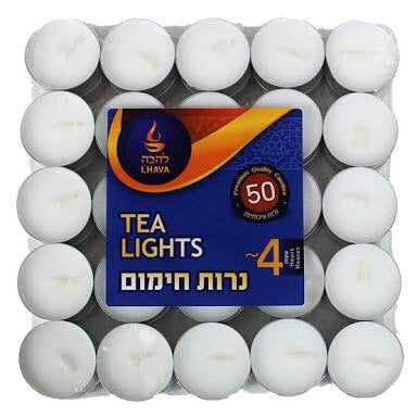 Lhava Tealight 4 hr 50Pk