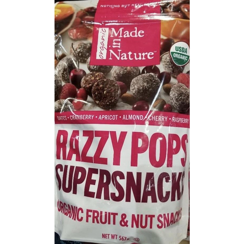 Made In Nature Organic Razzypops 567g