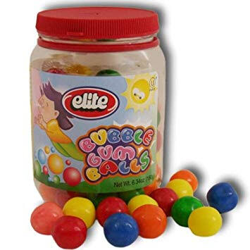 Elite Bubble Gum Balls 180g