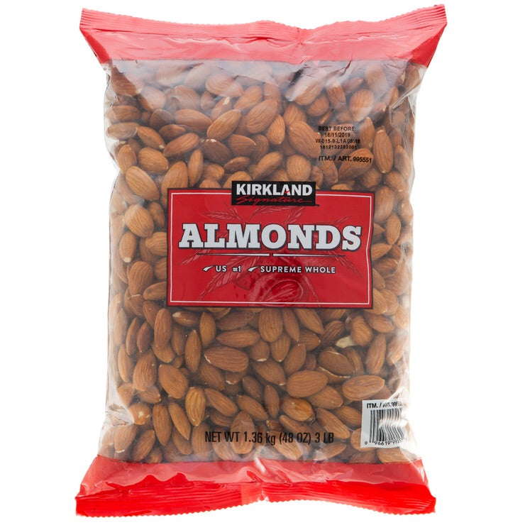 Kirkland Signature Supreme Whole Almonds 1.36kg
