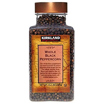 Kirkland Signature Whole Black Peppercorns 399g