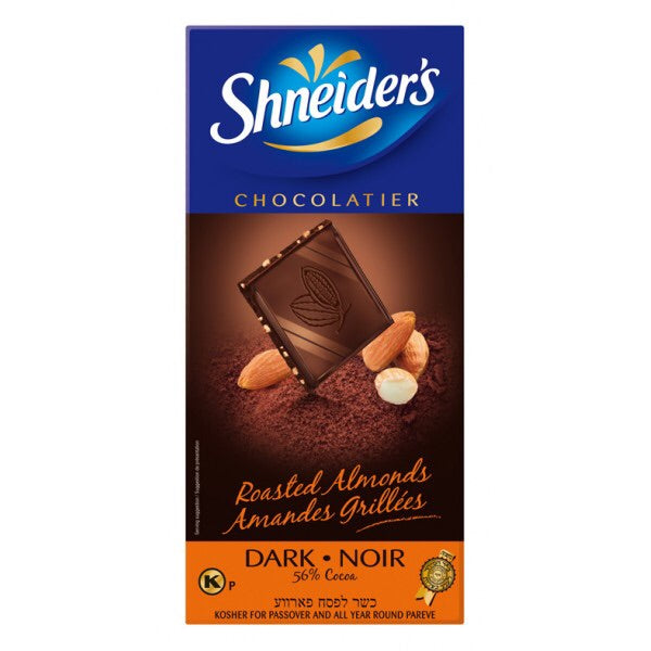 Shneiders Dark Chocolate With Roasted Almonds 100G