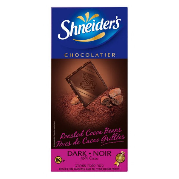 Shneiders Dark Chocolate With Roasted Cocoa Beans 100G