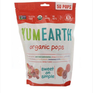 Yum Earth Organic Assorted Fruit Pops 50 Pops 348g