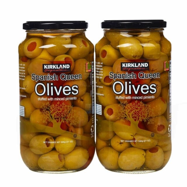 Kirkland Signature Spanish Queen Olives 2 x 595g