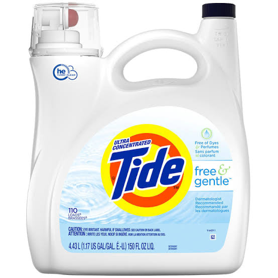 Tide Free & Gentle Liquid Laundry Detergent 4.43ltr 110 washes