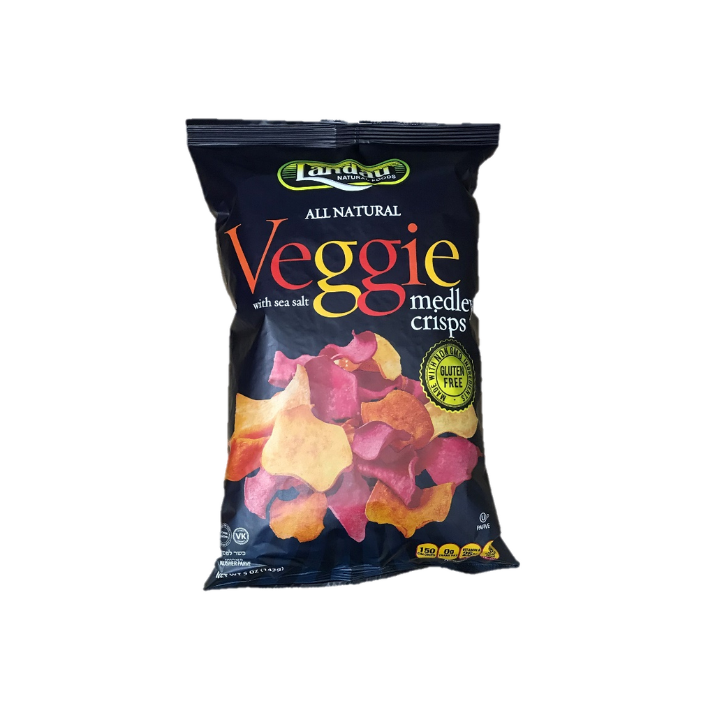 Landau Veggie Medley Crisps With Sea Salt 140g