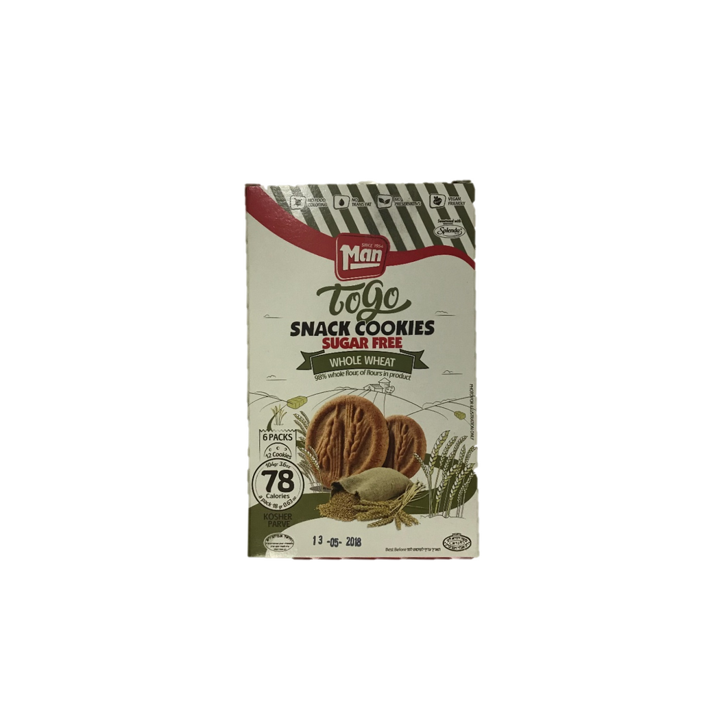 Man Snack Cookie To Go Whole Wheat Sugar Free - 6 Pack 104g