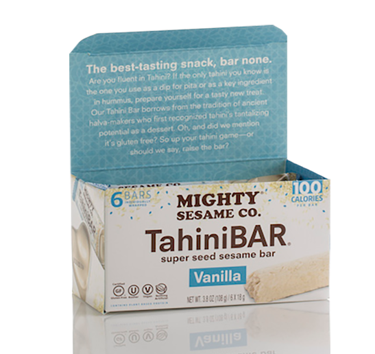 Mighty Sesame Co. Tahini Bar Vanilla 6 x 18 g