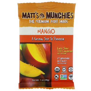 Matt's Munchies Mango Organic Fruit Snack 28g