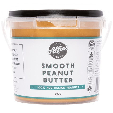 Alfie's Food Co. Smooth Peanut Butter 800g