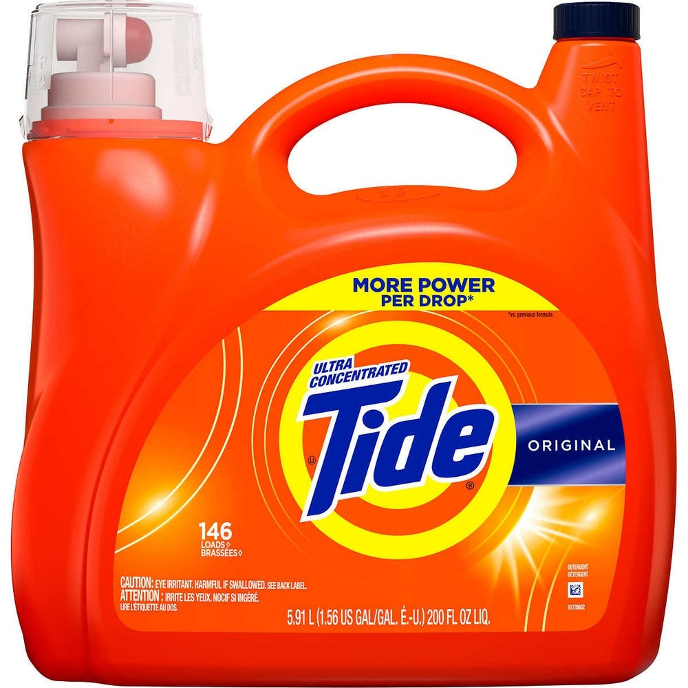 Tide Ultra Concentrated HE Liquid Laundry Detergent 5.91L 146 loads 200 fl oz