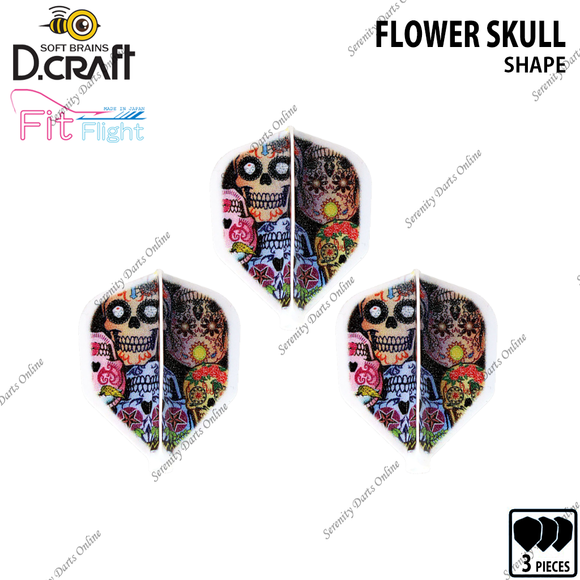 FLOWER SKULL [FIT FLIGHT SHAPE]