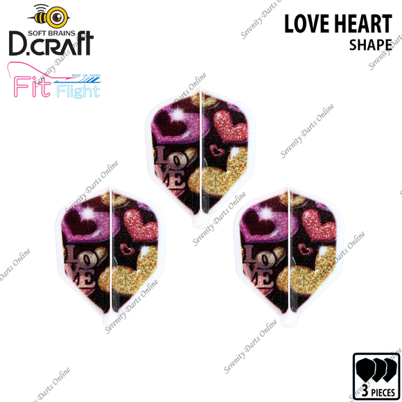 LOVE HEART [FIT FLIGHT SHAPE]