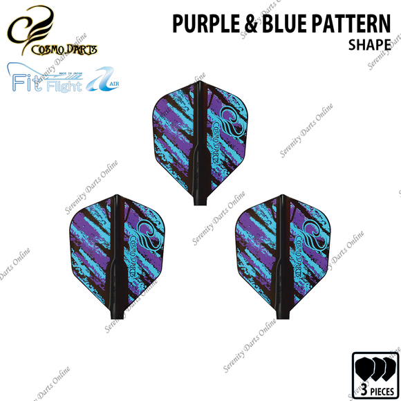 PURPLE & BLUE PATTERN [FIT FLIGHT SHAPE] • COSMO DESIGN CONTEST •