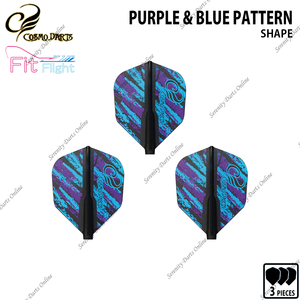 PURPLE & BLUE PATTERN [FIT FLIGHT AIR SHAPE] • COSMO DESIGN CONTEST •