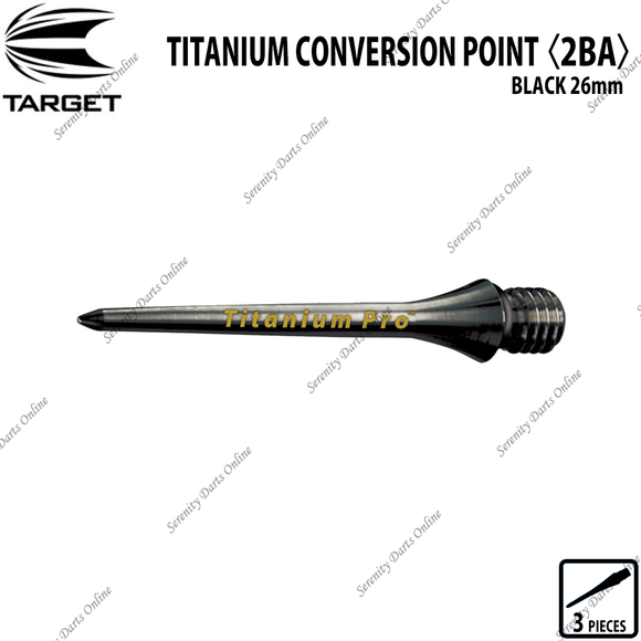 TARGET TITANIUM CONVERSION POINT 2BA - BLACK