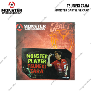 TSUNEKI ZAHA - MONSTER DARTSLIVE CARD