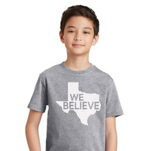 We Believe in Texas Youth T-Shirt - Heather Grey