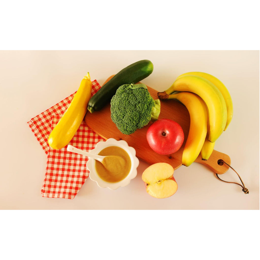Apple, Banana, Carrot, Zucchini & Broccoli, 100g / 6 pack