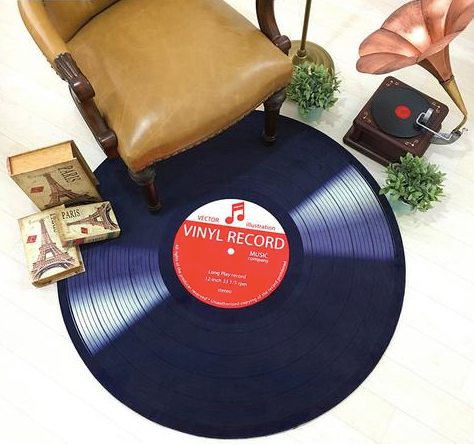 Vinyl Record Floor Mat