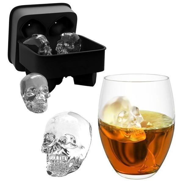 3D Skull Design Ice Cube Mold