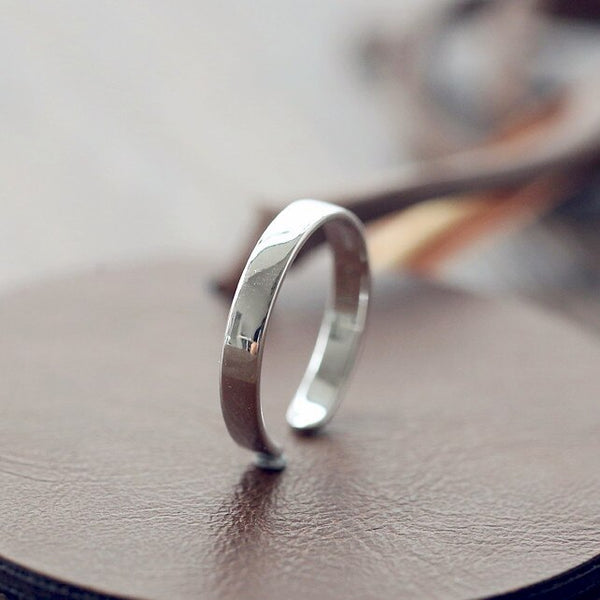 Smooth and Shiny Ring - 925 Sterling Silver