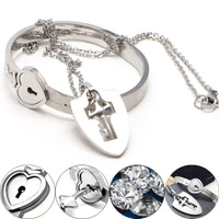 Love Lock Bracelet with Necklace Key