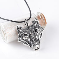 Viking Necklace (Wolf head)