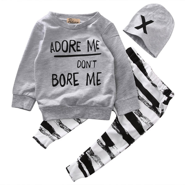 Adore me don't bore me baby outfit