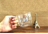 Cute Kitten Coffee Glass