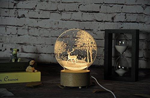 Stag in the wood LED Lamp