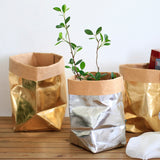 Kraft Paper Flower Pot / Storage Box