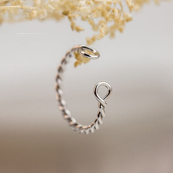 Trendy Twist Ring - 925 Sterling Silver
